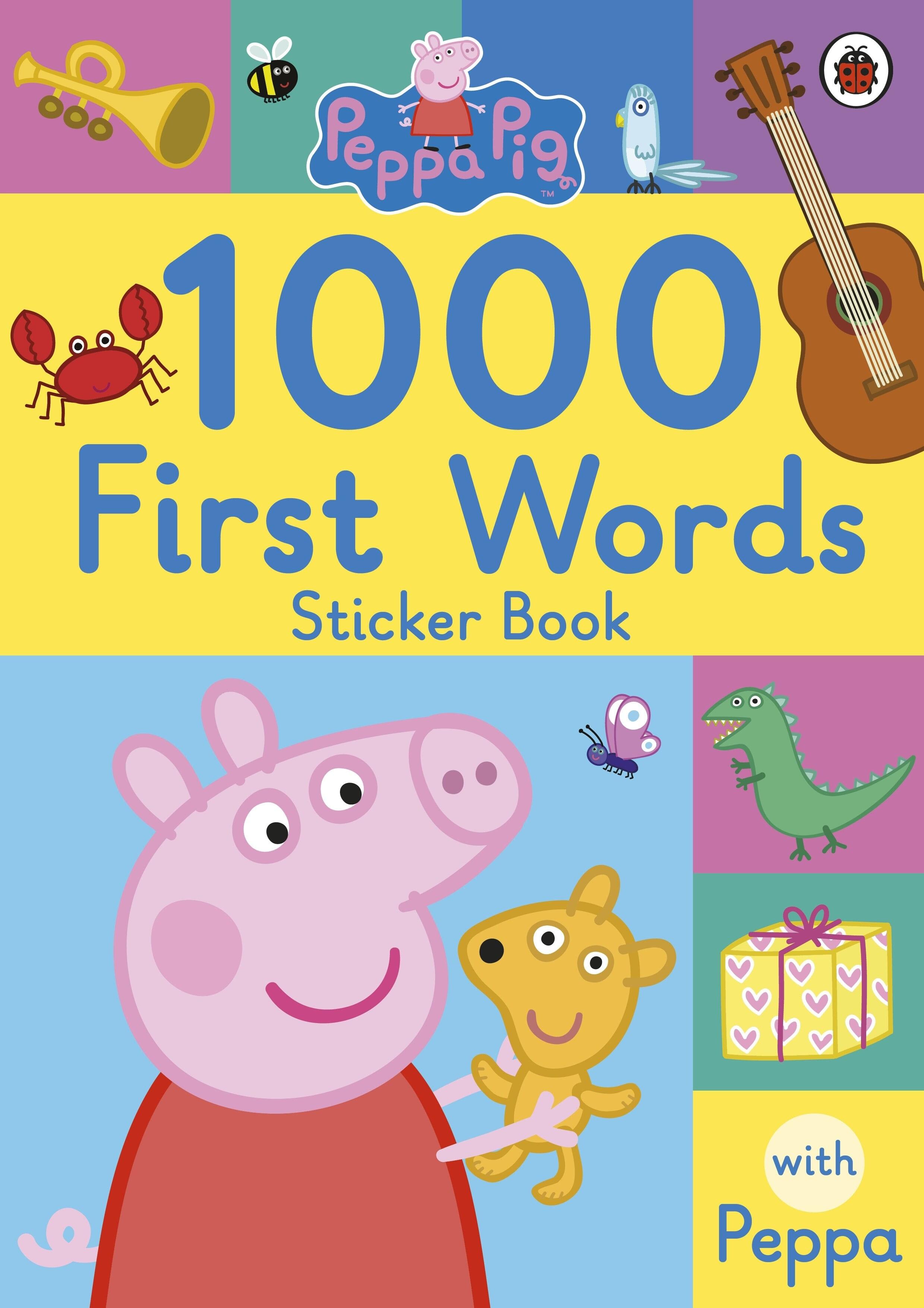 Peppa Pig: 1000 First Words Sticker Book (Paperback)