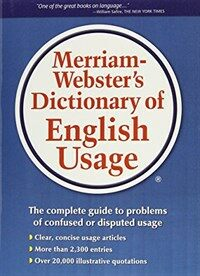 Merriam-Webster's Dictionary of English Usage (Hardcover)