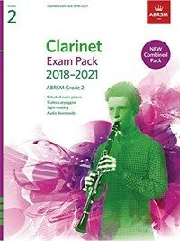 Clarinet Exam Pack 2018-2021, ABRSM Grade 2 : Selected from the 2018-2021 syllabus. Score & Part, Audio Downloads, Scales & Sight-Reading (Sheet Music)