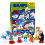 My Busy Book  : Smurfs 스머프 비지북 (미니피규어 12개 + 놀이판)