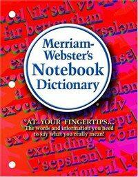 Merriam-Webster's Notebook Dictionary (Mass Market Paperback)