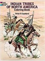 [중고] Indian Tribes of North America Coloring Book (Paperback)