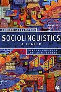Sociolinguistics: A Reader (Paperback)