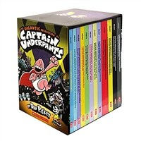 The Gigantic Collection of Captain Underpants #1-12 Boxed Sset (Paperback 12권)