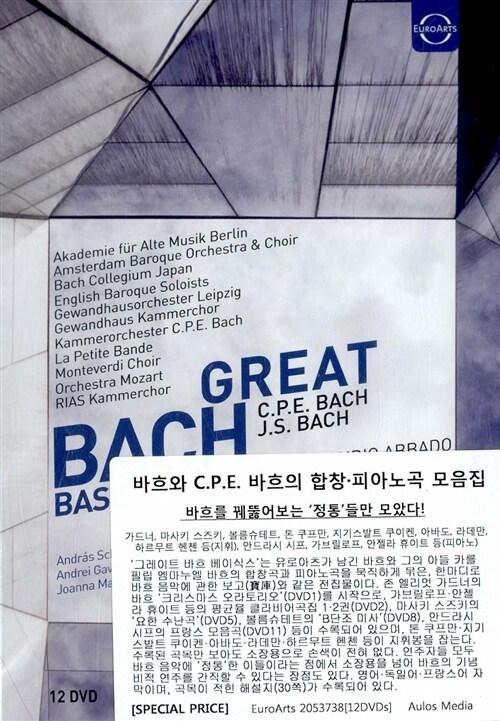 [수입] 바흐와 C.P.E. 바흐의 합창 & 피아노곡 모음집 [12DVD]