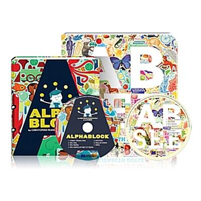 노부영 알파벳 그림책 2종 (Alphablock + AB SEE) (Board Book + CD)