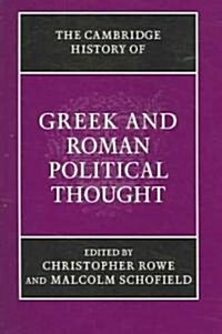 The Cambridge History of Greek and Roman Political Thought (Paperback)