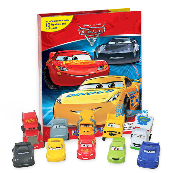 My Busy Book : Disney Cars 3 디즈니 픽사 카3 비지북 (미니피규어 10개 + 놀이판)