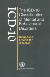 The ICD-10 classification of mental and behavioural disorders : diagnostic criteria for research