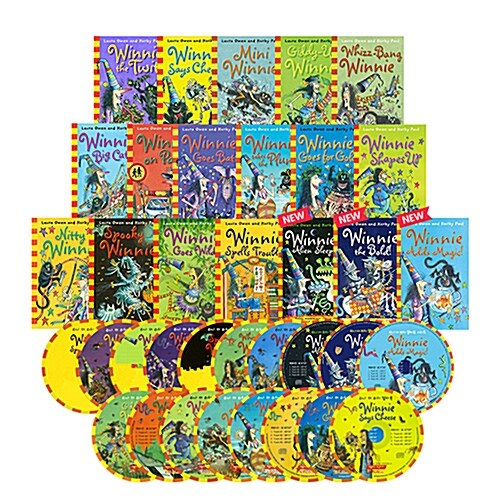 [마녀 위니 챕터북] Winnie the Witch 18종 세트 (Paperback 18권 + Audio CD 18장)