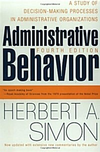 Administrative Behavior, 4th Edition (Paperback, 4, Revised)