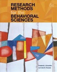 Research methods for the behavioral sciences / 6th ed