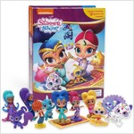 My Busy Book : Shimmer and Shine 쉬머 앤 샤인 비지북 (미니피규어 12개 + 놀이판)