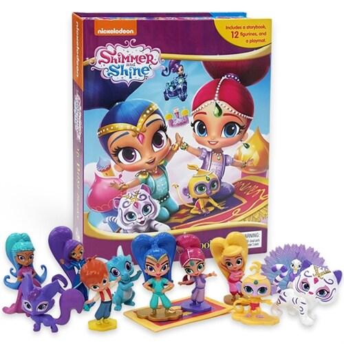 My Busy Book : Shimmer and Shine 쉬머 앤 샤인 비지북 (미니피규어 12개 + 놀이판)