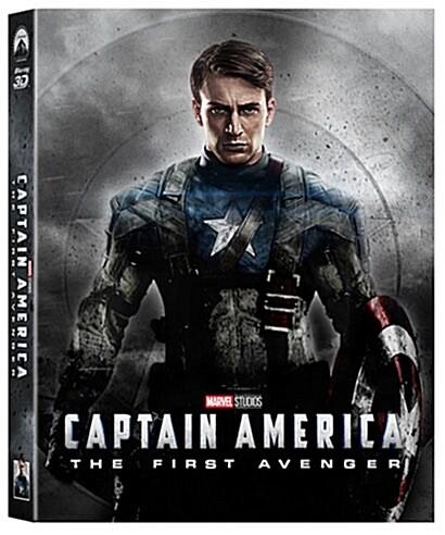 [3D 블루레이] 캡틴 아메리카: 퍼스트 어벤져 - 렌티큘러 슬립케이스 스틸북 한정판 (2Disc: 3D+2D)