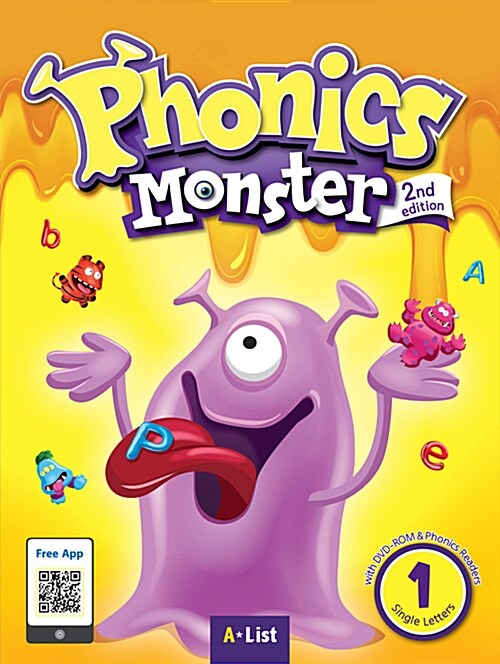 Phonics Monster 1 : Student Book (DVD-ROM + MP3 CD + Phonics Readers, 2nd Edition)