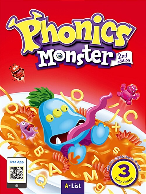 Phonics Monster 3 : Student Book (DVD-ROM + MP3 CD + Phonics Readers, 2nd Edition)