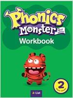 Phonics Monster 2 : Workbook (Short Vowels) (2nd)