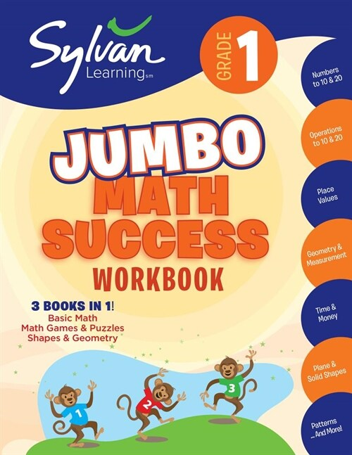 1st Grade Jumbo Math Success Workbook: 3 Books in 1--Basic Math, Math Games and Puzzles, Shapes and Geometry; Activities, Exercises, and Tips to Help (Paperback)