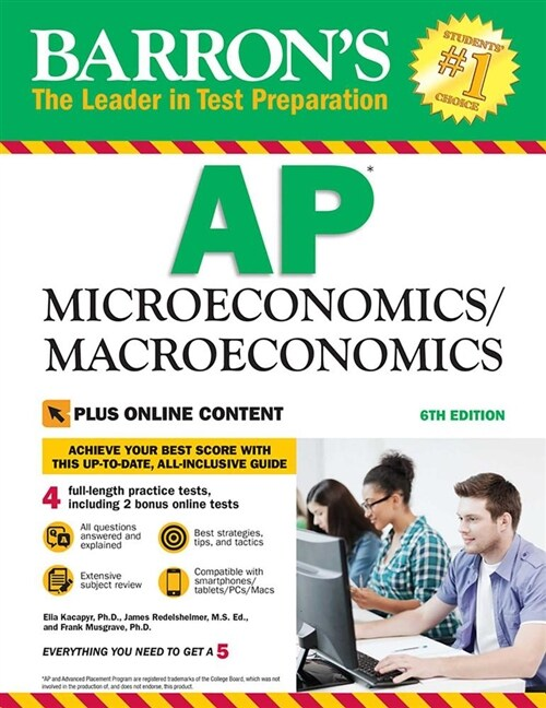 Barrons AP Microeconomics/Macroeconomics with Online Tests (Paperback, 6)