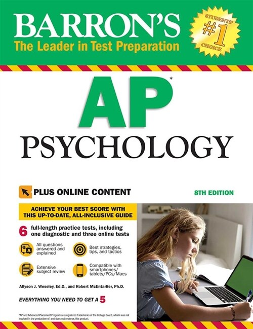 Barrons AP Psychology with Online Tests (Paperback, 8)