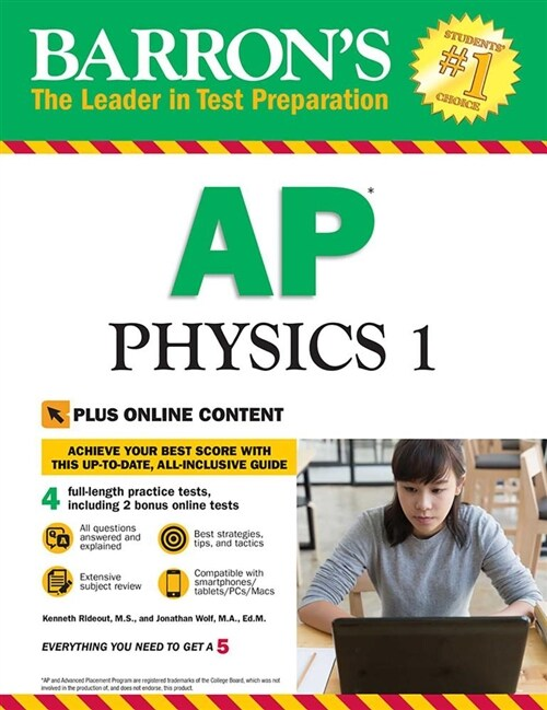 Barrons AP Physics 1 with Online Tests (Paperback)