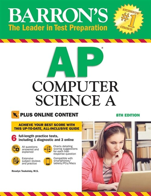 Barrons AP Computer Science a with Online Tests (Paperback, 8)