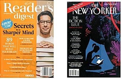 [한정특가 1+1] Readers Digest (월간 미국):2017년 9월 & The New Yorker 6월 5일