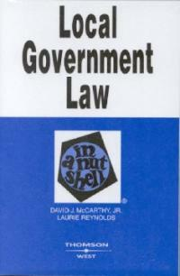 Local government law in a nutshell 5th ed