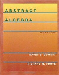 Abstract algebra 3rd ed