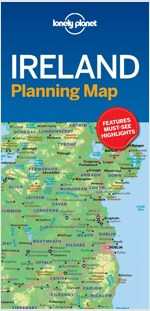 Lonely Planet Ireland Planning Map (Folded)