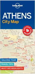 Lonely Planet Athens City Map (Folded)