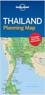 Lonely Planet Thailand Planning Map (Folded)