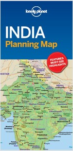 Lonely Planet India Planning Map (Folded)