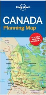 Lonely Planet Canada Planning Map (Folded)