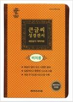 [브라운/비치용] 개역개정판 큰글씨 성경전서 새찬송가 NKR73THU - 중(中).합본.색인
