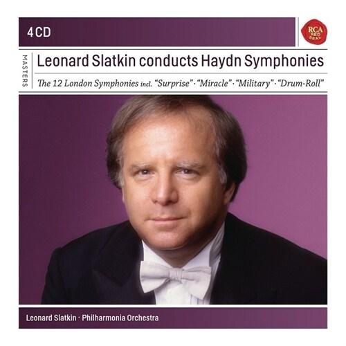 [수입] 레너드 슬래트킨이 지휘하는 하이든 교향곡집 (4CD)