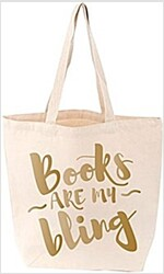 Books Are My Bling Tote (Cream) (Other)