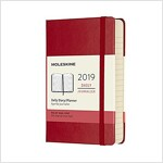 Moleskine 2019 12m Daily, Pocket, Daily, Red Scarlet, Hard Cover (3.5 X 5.5) (Desk)