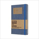 Moleskine 2019 12m Limited Edition Denim Weekly Notebook, Large, Weekly Notebook, Blue Large, Hard Cover (5 X 8.25) (Desk)