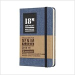 Moleskine 2018-2019 18m Limited Edition Denim Weekly Notebook, Pocket, Weekly Notebook, Blue Pocket, Hard Cover (3.5 X 5.5) (Desk)