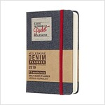 Moleskine 2019 12m Limited Edition Denim Daily, Pocket, Daily, Black, Hard Cover (3.5 X 5.5) (Desk)