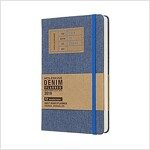 Moleskine 2019 12m Limited Edition Denim Daily, Large, Daily, Blue, Hard Cover (5 X 8.25) (Desk)