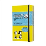 Moleskine 2019 12m Limited Edition Peanuts Weekly Notebook, Pocket, Weekly Notebook, Yellow, Hard Cover (3.5 X 5.5) (Desk)