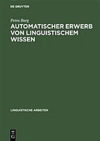 Automatischer Erwerb von linguistischem Wissen : ein Ansatz zur Inferenz von DATR-Theorien