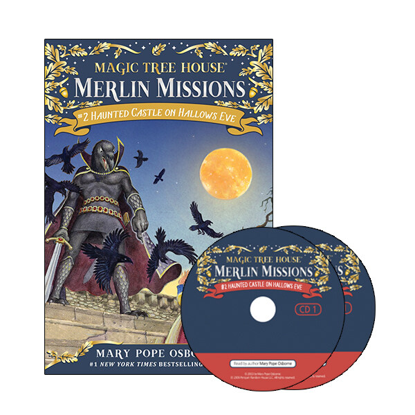 Merlin Mission #2:Haunted Castle on Hallows Eve  (Paperback + CD )