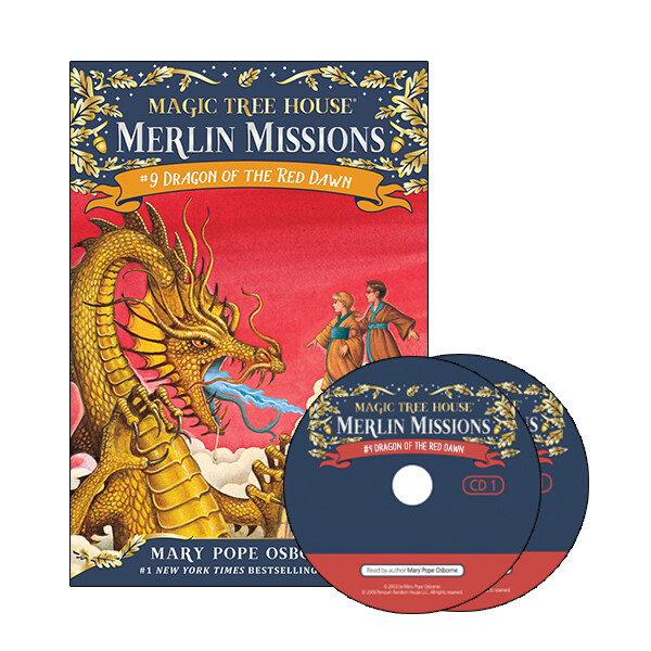 Merlin Mission #9:Dragon of the Red Dawn (Paperback + CD )