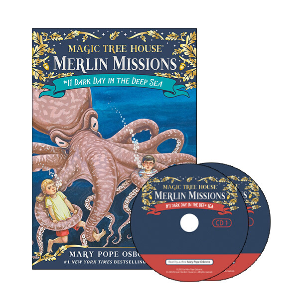 Merlin Mission #11 : Dark Day in the Deep Sea (Paperback + CD )