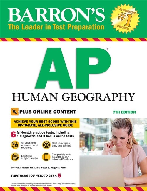 Barrons AP Human Geography with Online Tests (Paperback, 7)