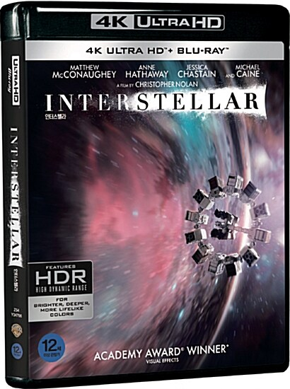[4K 블루레이] 인터스텔라 (3disc: 4K UHD + BD + 보너스 디스크)